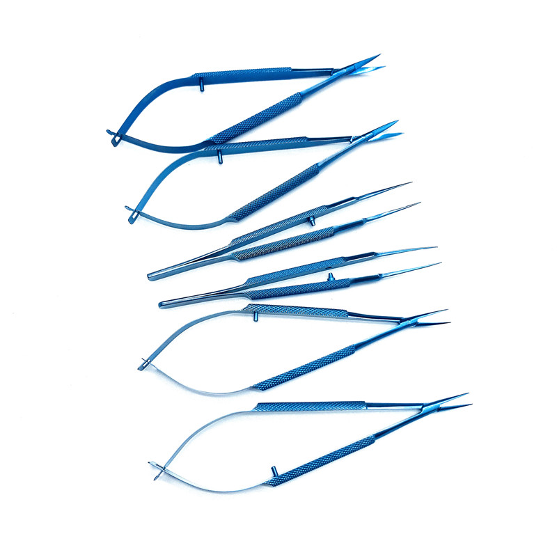 Titanium Alloy Ophthalmic Microsurgical 12.5cm Needle Holders Scissors Tweezers 10.5cm Surgery Opthalmic Instrument Tools