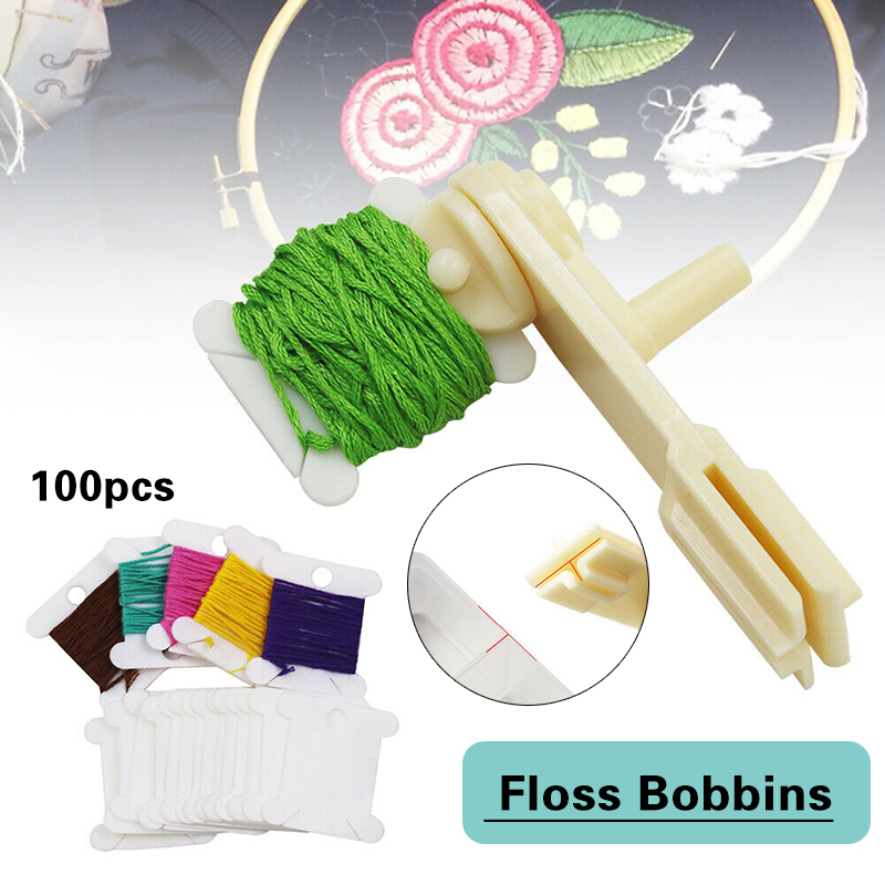 100 pièces fil bobines croix broderie fil supports organisateur point enrouleur pour broderie fil organisateur couture accessoires