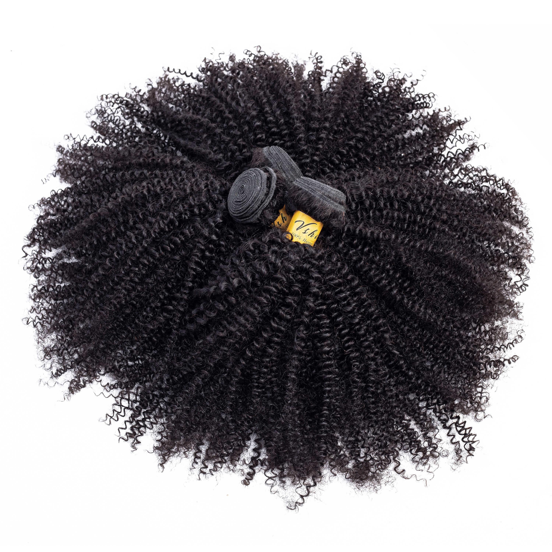 Afro Verworrene Lockige Bundles Mit Verschluss 13x4 VSHOW 100% Remy Menschliche Haarwebart Mongolischen Afro Verworrene Lockige Haar bundles Mit Frontal