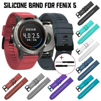 Fenix 5 Fitness Sports Band Silicone Strap Series 22mm Fenix 5 Watch Band Sports Strap Replacement Strap Bracelet image