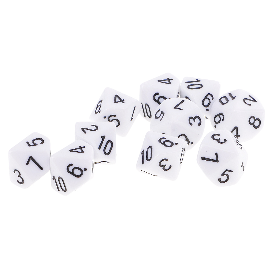 20x Role Playing Accessory D10 Polyhedral Dice 10 Sided For MTG TRPG DND Toy