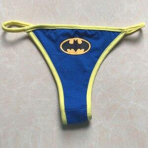 Сексуальное женское нижнее белье с супергероями, Бэтменом, капитаном Америка, Суперменом, Трусы-стринги, нижнее белье