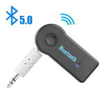 2 in 1 Wireless Bluetooth 5 0 Receiver Transmitter Adapter 3 5mm Jack For Car Music Audio Aux A2dp Headphone Reciever Handsfree cheap elenxs NONE CN(Origin) Double 2 4G metal plastic black 53x23x11mm 5 0 10 meters 2 4GHz up to 8 hours USB cable