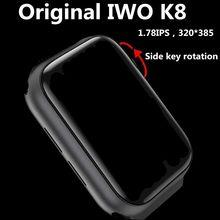 2020 IWO K8 max Series 5 IWO12 K8 Смарт-часы 44 мм для телефонов Apple IOS Android Беспроводная зарядка Bluetooth звонки музыкальный плеер SIRI