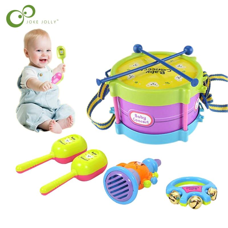 Для детей, партия из 5 пар барабан Трубач-игрушка музыка ударный инструмент пополняемый набор Ранние обучающие образовательные игрушки для ...