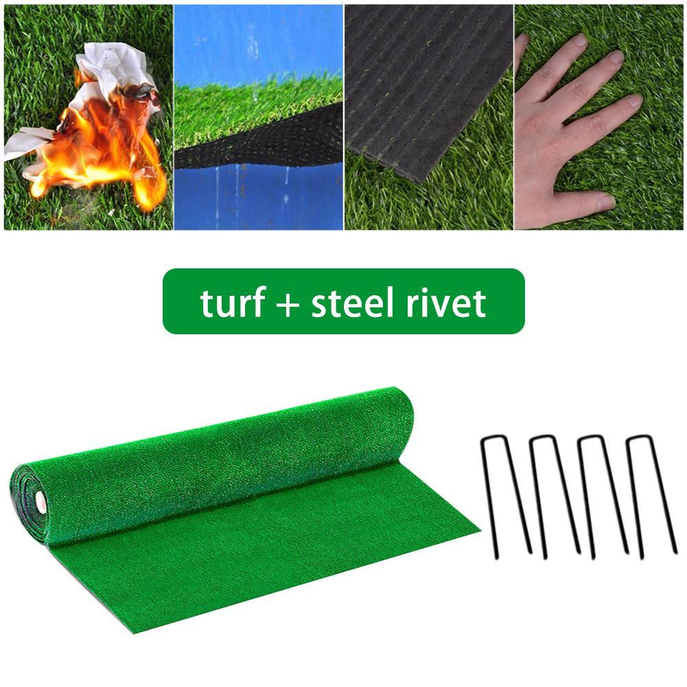 200* 200 Cm Artificial Grass Carpet Real Touch Artificial Plants Lawn Moss Fake Grass Mat Landscape Decoration DIY Home Decor