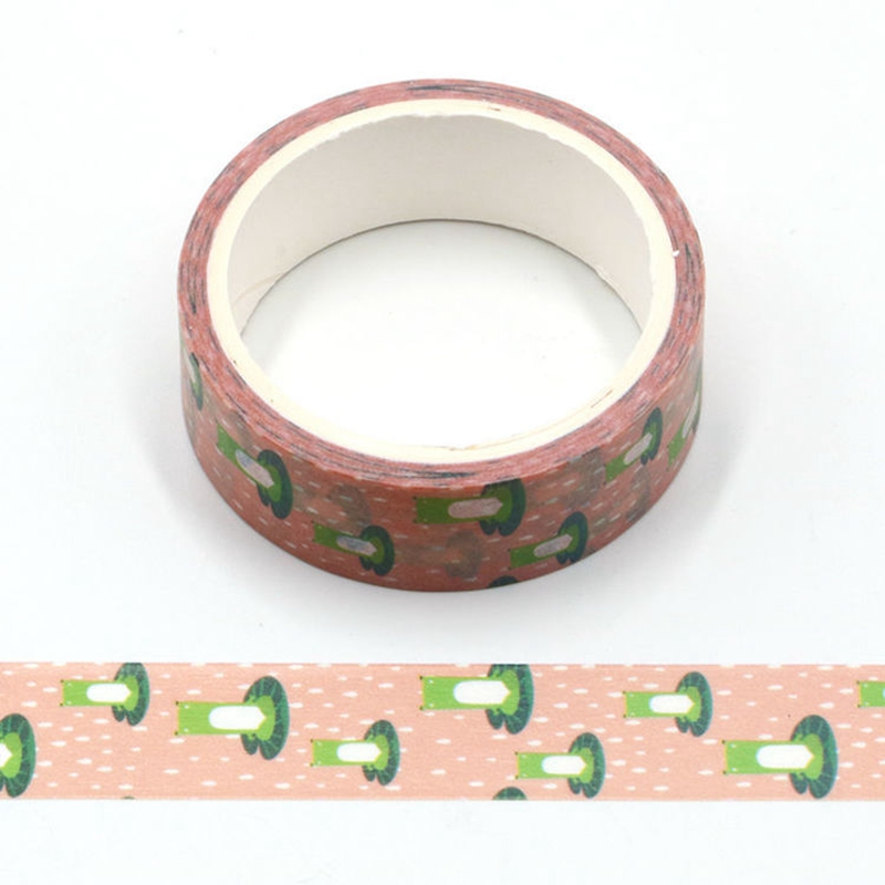 10PCS/lot Cute Summer Cartoon Frogs Washi Tapes Paper For Scrapbooking Bullet Journal Adhesive Masking Tapes Stationery