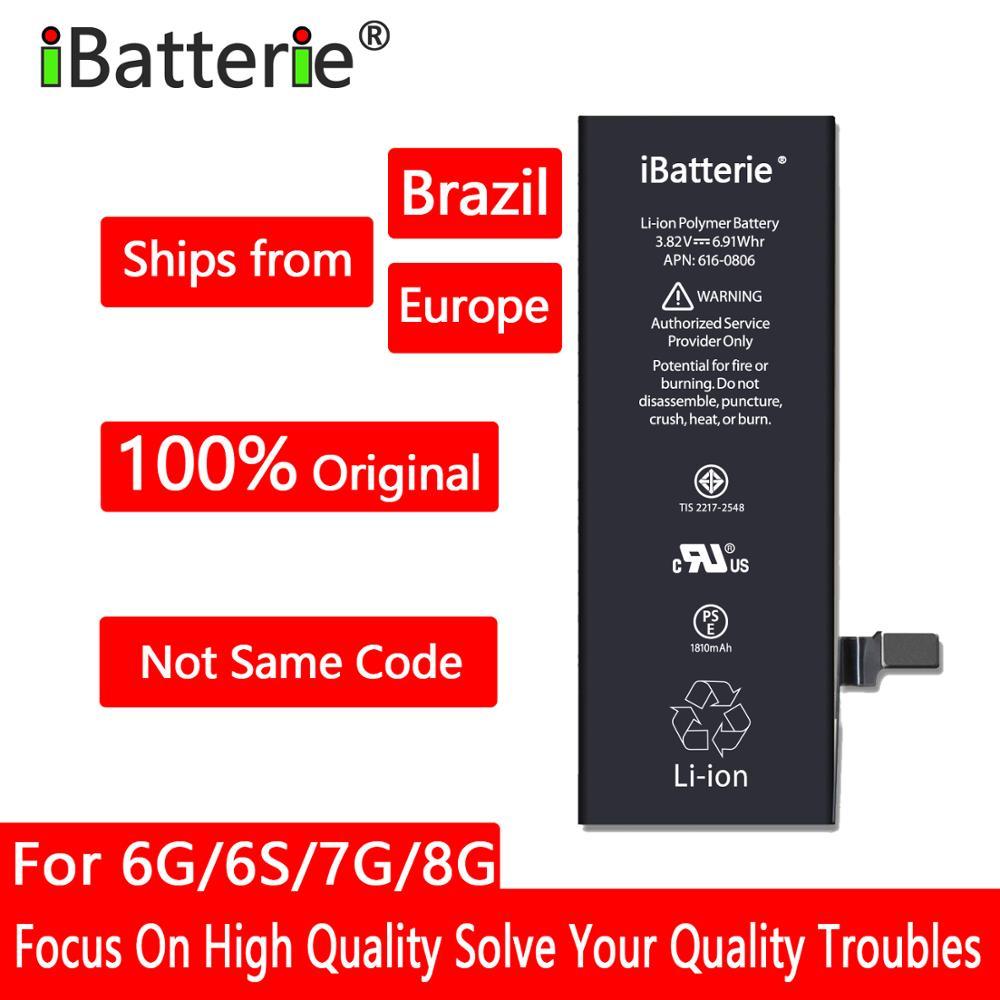 10 шт./лот iBatterie литиевая батарея для Apple iPhone 6S 6 7 X SE Xr Xs Max