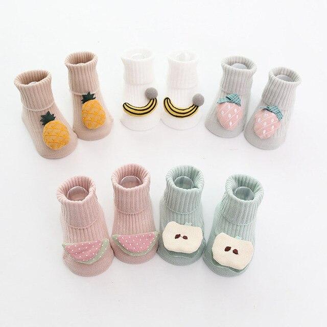 Cotton Baby Socks Cartoon Fruit Newborn Socks Anti Slip Floor Socks Autumn Winter Socks for Children Baby Boy Girl Infant Socks 3