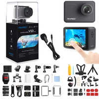 Akaso v50 pro 4 k 30fps 20mp wifi câmera de ação com els tela sensível ao toque ao ar livre extrems esporte cam ângulo visão 30m câmera à prova dwaterproof água