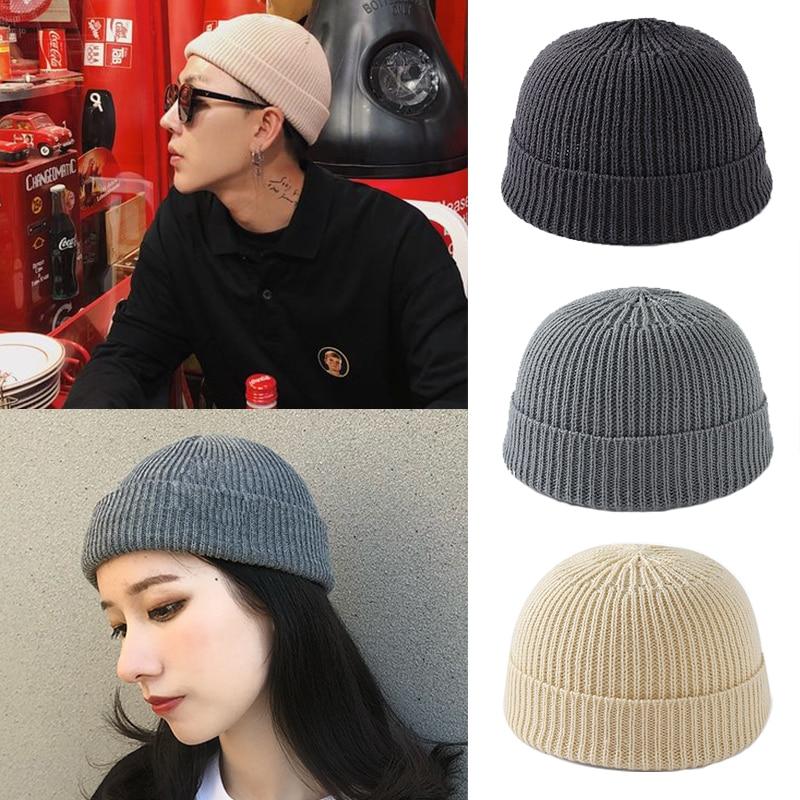 Skullcap Winter   Beanies   For Women Men Solid Unisex Knitted Hats Female Soft Elastic   Skullies   Ski Warmer Short Melon Caps Bonnet