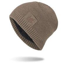 Новинка плюс бархатная шапочка вязаная Толстая ветрозащитная теплая удобная шапка, защищающая уши с рисунком листьев Мужская зимняя уличная