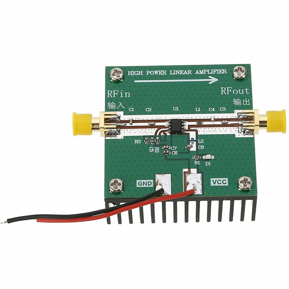 cheapest RF2126 400MHZ-2700MHZ broadband RF Power Amplifier 2 4GHZ 1W For Bluetooth Ham Radio Amplifier with heat sink