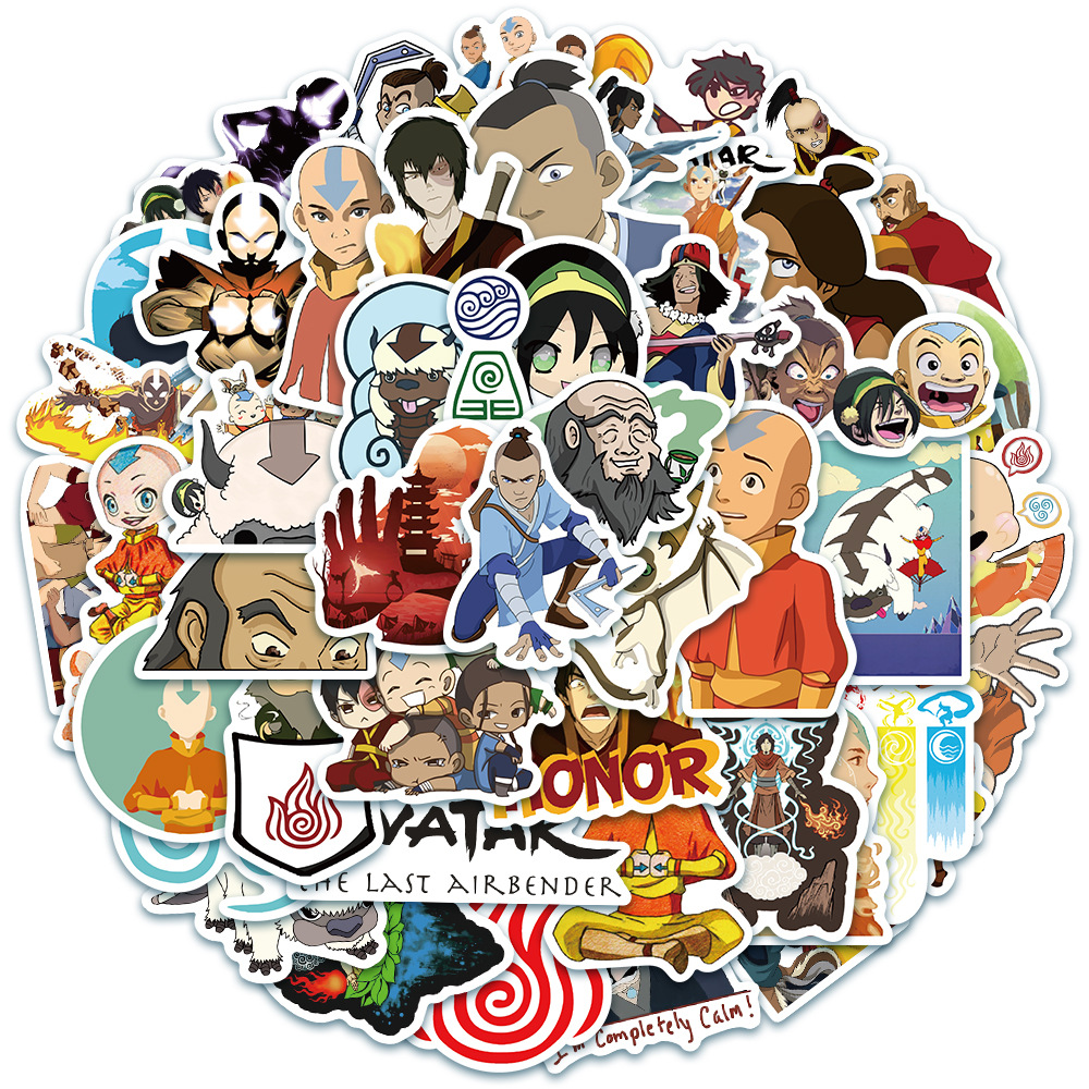 10/30/50PCS cartoon anime character avatar laptop helmet skateboard waterproof sticker group member decoration wholesale