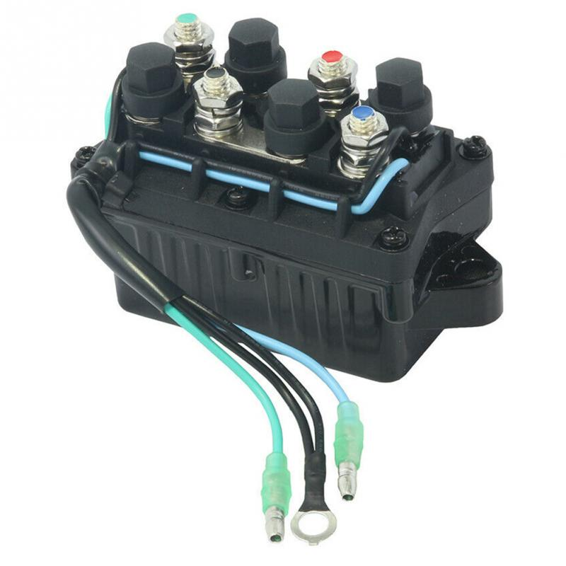 Trim Relay Boat Motor Power 3 Pin 12V+-20% 120A Waterproof for Yamaha 30-90HP 6H1-81950-00-00 Engine Aluminum Relay