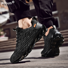 Men's Shoes Breathable Mesh Lace Running Shoes Outdoor Fitness Training Sports Shoes Non-slip Wear-resistant Casual Couple Shoes