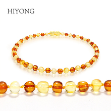 HIYONG Classic Baby Amber Bracelets Certified Authenticity Genuine Natural Baroque Beads Jewelry Baltic Original