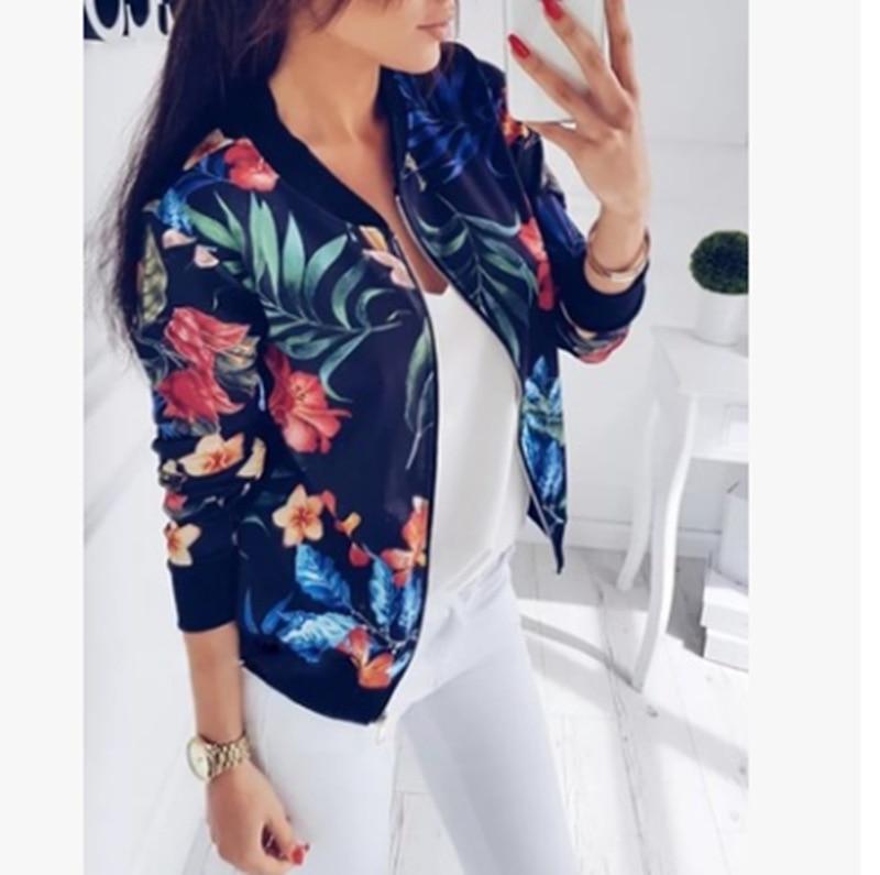 H6fe80b329e724bd8ba26b3e3c359a6d63 Woman Coat Plus Size Printed Bomber Jacket 2020 Women Pockets Zipper Long Sleeve Coat Female Flower Chiffon White Jacket Woman