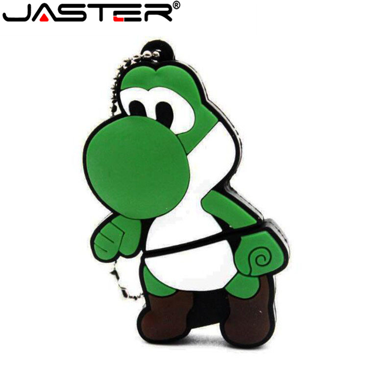 JASTER New Cartoon Mario Yoshi Model Usb Flash Drives 16gb Usb 2.0 Memory Stick Pendrives Genuine 8GB Pen Drive 32gb 64gb