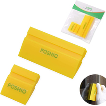 FOSHIO 2pcs Car Tinting Tool Rubber Squeegee Blade Window Tint Film Install Vinyl Wrapping Clean Scraper Water Wiper Snow Shovel