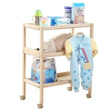 Solid wood diaper table nursing table crib baby changing urine non-wet multifunctional storage touch bath