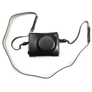 Image 5 - Роскошный чехол из искусственной кожи для камеры с ремешком и открытым аккумулятором для камеры Canon Powershot G7X Mark II III G7XII gs7xiii