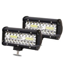 7 Inch 120W Combo Led Light Bars Spot Flood Beam 4x4 Spot 12V 24V 4WD Barra LED Headlight For Auto Parts