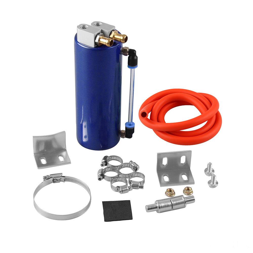 1 Set 350ML Oil Catch Can Tank Aluminum alloy Universal  / With Filter and Hardware