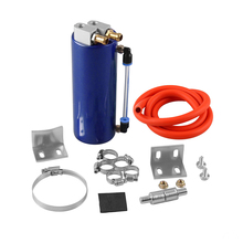 цена на 1 Set 350ML Oil Catch Can Tank Aluminum alloy Tank Universal  Tank / Oil Tank With Filter Oil Catch Tank and Hardware