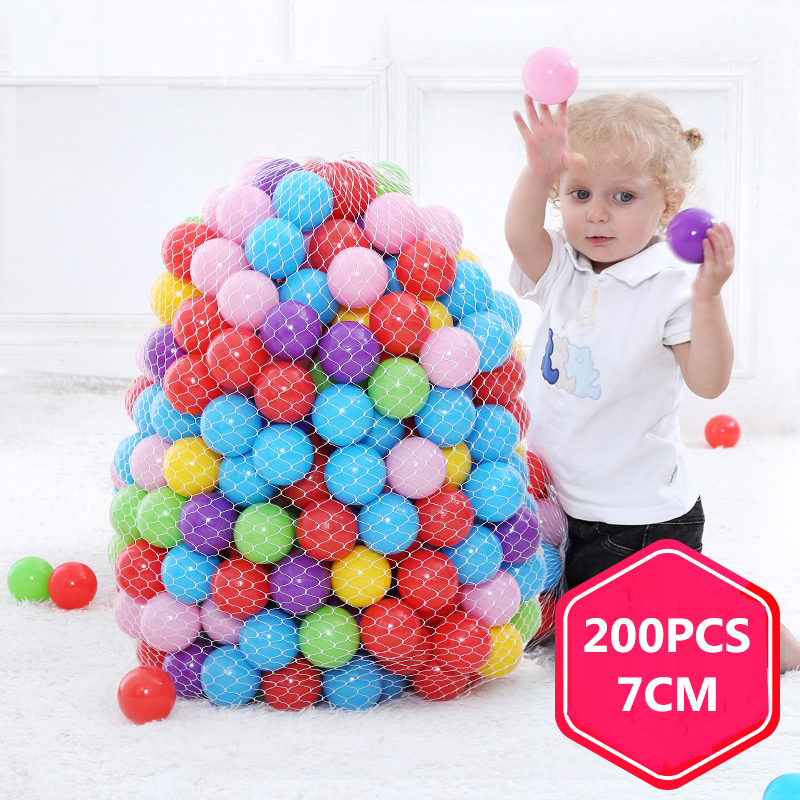 200Pcs/Lot Ocean Balls Eco-Friendly Colorful Ball Pits Funny Baby Kids Swim Soft Toy Water Pool Ocean Wave Balls Outdoor Toys