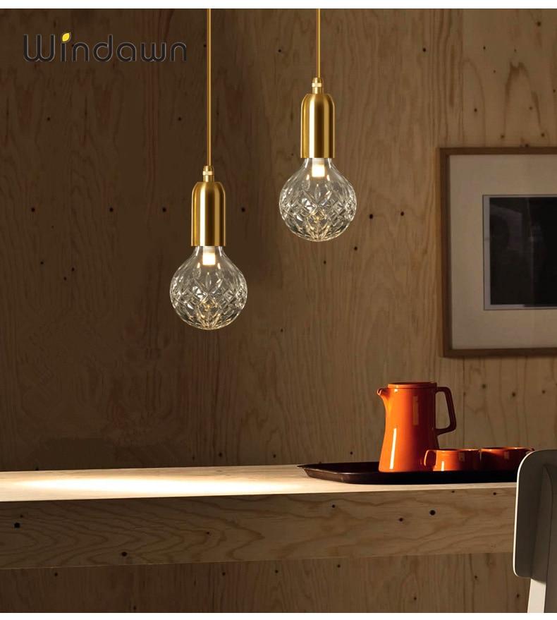 Windawn Nordic Modern Pendant Lights Classics Brass Pendant Lights Restaurant Hotel Bedroom Living Room Office Ceiling Lamp