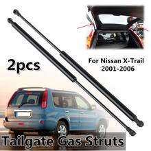 Suporte de gás para porta-malas nissan x trail, 2 peças, bota traseira para nissan x-trail 2001-2006»