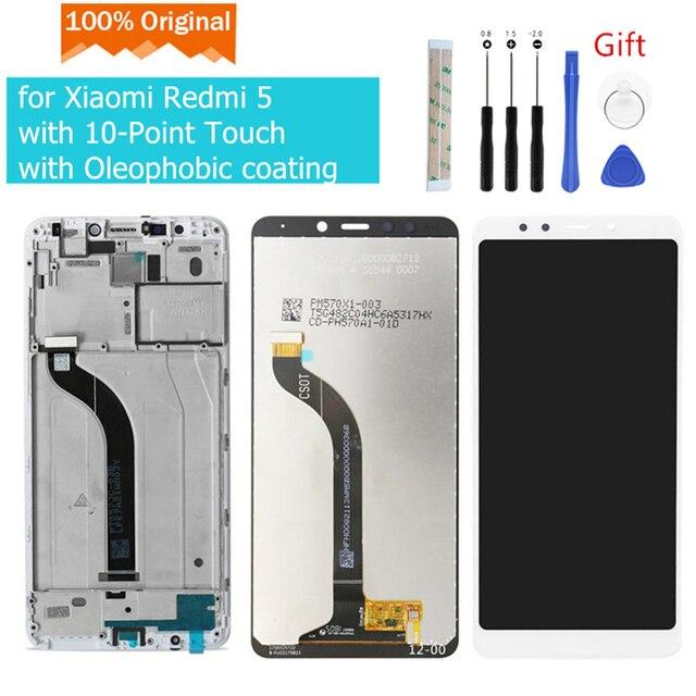 Original pour Xiaomi Redmi 5 LCD écran tactile numériseur assemblée avec cadre pour Xiaomi Redmi 5 affichage pièces de réparation