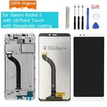 الأصلي ل شاومي Redmi 5 LCD عرض تعمل باللمس محول الأرقام الجمعية مع الإطار ل شاومي Redmi 5 عرض إصلاح أجزاء