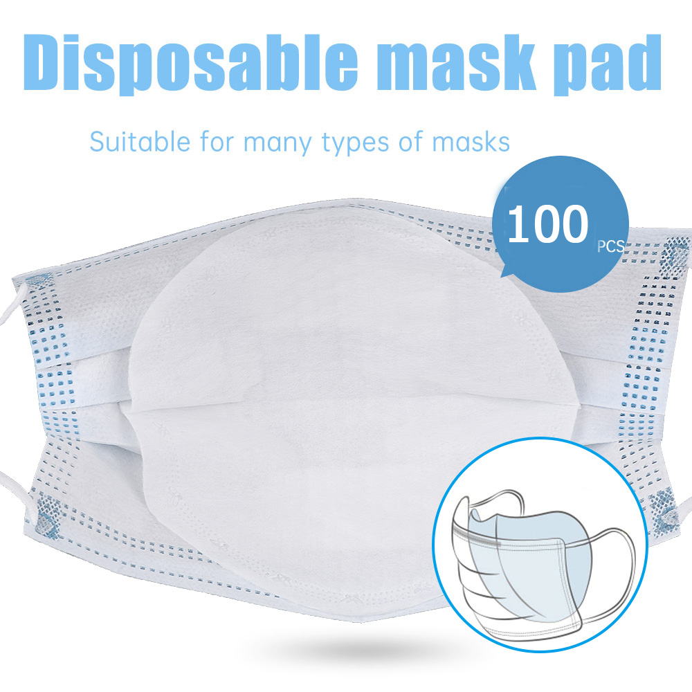 100Pcs Disposable Face Mask Gasket 3 Layer Protective Respirator Mask Filter Cartridge Dust Mouth Face Mask PM 2.5