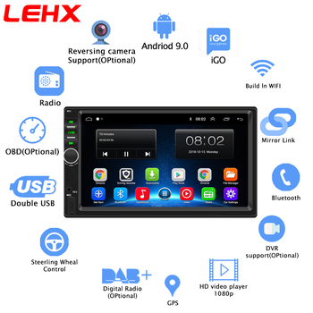 2 din Car Radio Android 9.0 RAM 2GB Autoradio Multimedia Player for Nissan Hyundai Kia toyata Chevrolet Ford Suzuki Mitsubishi