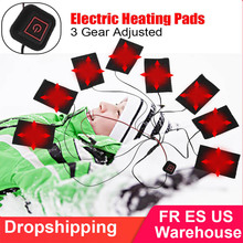 High Quatity Carbon Fiber USB Heating Vest Pad Heated Jacket Clothes Pad Heater Outdoor autumn Winter Warm Thermal Vest Pads