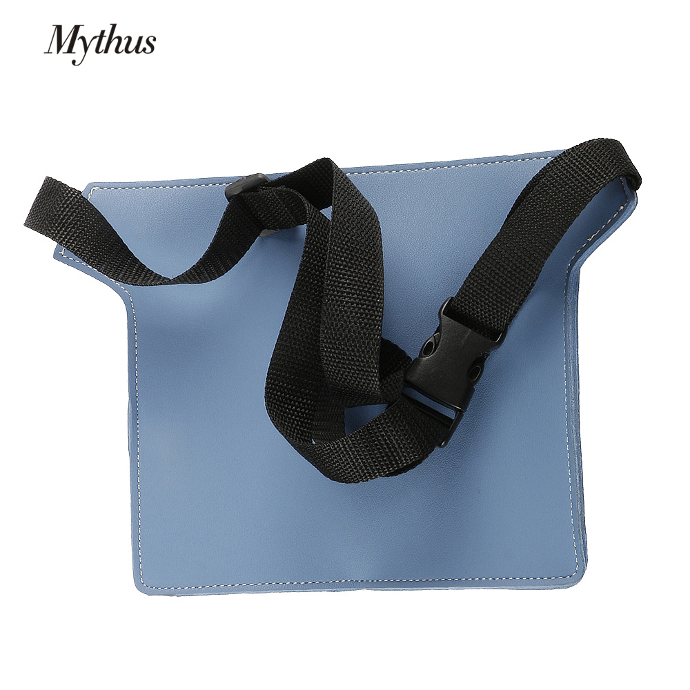 Купить с кэшбэком High Quality PU Leather Hairdressing Tools Bag Adjustable Salon Hairdresser Waist Bag Scissor Pouch Bag For Salon Styling Tools