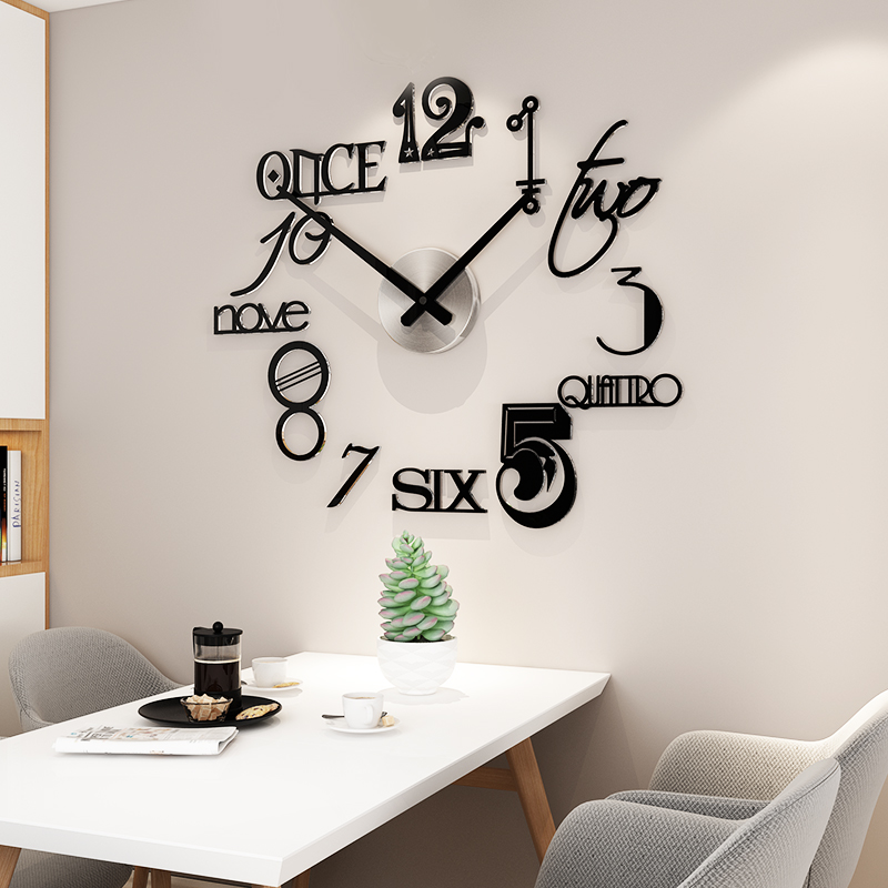 Hot Promo 81d36 Abstract Style Silent Acrylic Large Decorative Diy Wall Clock Modern Design Living Room Home Decoration Wall Watch Wall Stickers Cicig Co