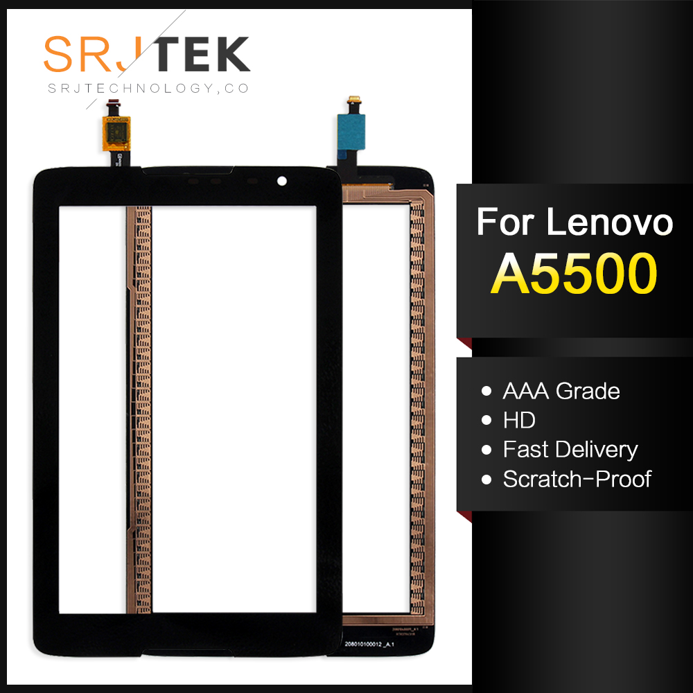 For New Lenovo A8-50 A5500 A5500-H Replacement Tablet Touch Screen Digitizer Glass Black 8-inch