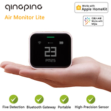 Qingping Air Qualität Detektor Lite CO2 PM 2,5 PM10 Temperatur Feuchtigkeit Monitor Hohe Präzision Sensor Arbeit mit Mijia App HomeKit