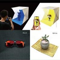 2 LED Folding Lightbox 40*40 Portable Photography Photo Studio Softbox Adjustable Brightness Light Box for DSLR Camera 4 color