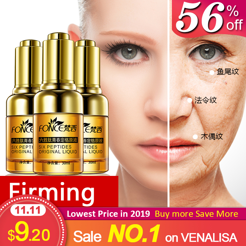 Fonce Korea Hexapeptide Youth Freeze-Frame Solution Directed Anti-Wrinkle Firming Lifting Smoothing Fine Lines 1 Bottle