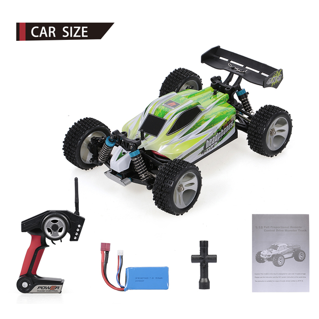 WLtoys Toys A959-A A959-B 2.4G 1/18 Scale 4WD Electric RTR Off-road Buggy 35/75KM/H RC Car Toys for Children Remote Control Gift 6