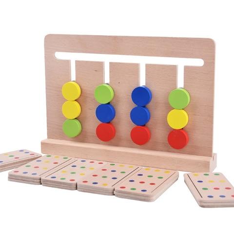 brinquedo bebe montessori quatro cores jogo