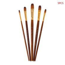5 шт кисти для рисования круглые/filber/Angel/плоские нейлоновые кисти для акварельных красок W91A