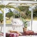 Скандинавские вязаные круглые подвесные гамаки ручной работы для помещений  спальни  детские подвесные кресла  детские качели  домашний де...