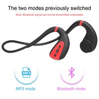 Bone Conduction Wireless Bluetooth 5.0 Headset Outdoor IPX8 Waterproof Sports Running Stereo Earphone with Mic Handsfree Headset