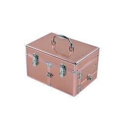 Große-Volumen Südkorea Kosmetik Tasche Multi-funktionale Kleine Quadratische Tasche Tragbare Hand Multilayer Make-Up Lagerung Box Einfache box