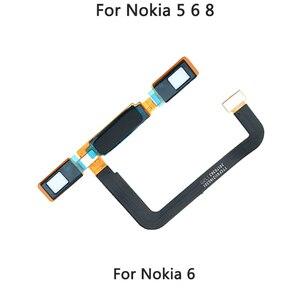 Image 3 - Para nokia 5 casa botão sensor de impressão digital cabo flexível para nokia 5 6 8 casa volta chave toque id peças reparo